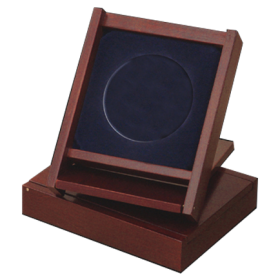 Wooden case & stand for medal