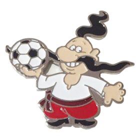 enamel pin - Cossack with a ball