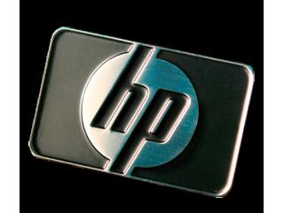 Эмблемы, шильды из металла на заказ для HP