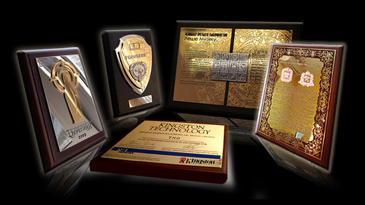 design and production of metal plaques, diplomas and certificates